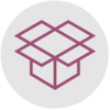 Packing boxes icon